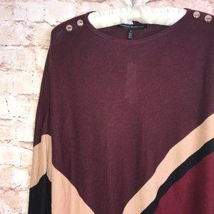 White House Black Market Sweaters - White House Black Market Lightweight Poncho Sz S